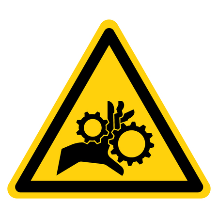 Hand Entanglement Rotating Gears Symbol Sign, Vector Illustration, Isolate On White Background Label .EPS10 Illustration