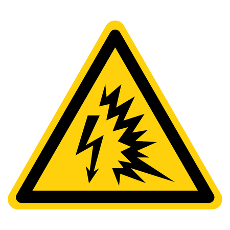 Arc Flash Symbol Sign, Vector Illustration, Isolate On White Background Label .EPS10 Çizim