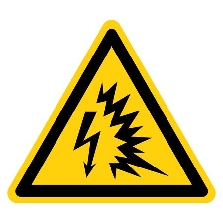 Lichtbogen-Blitz-Symbol-Zeichen, Vektor-Illustration, isolieren auf weißem Hintergrund-Etikett .EPS10 Vektorgrafik