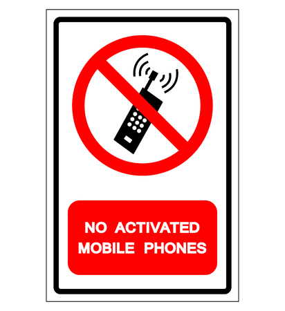 No Activated Mobile Phones Symbol Sign, Vector Illustration, Isolate On White Background Label. EPS10