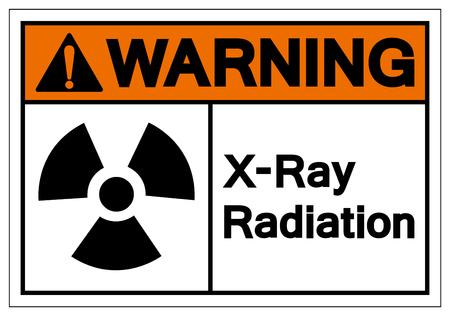 Warning X-Ray Radiation Symbol Sign, Vector Illustration, Isolate On White Background Label. EPS10