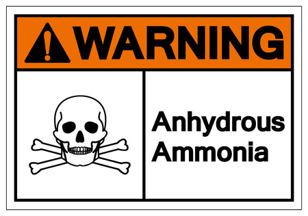 Warning Anhydrous Ammonia Symbol Sign, Vector Illustration, Isolate On White Background Label. EPS10