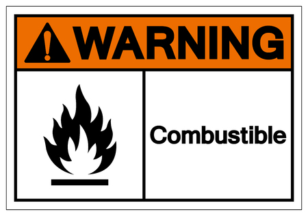 Warning Combustible Symbol Sign, Vector Illustration, Isolate On White Background Label. EPS10