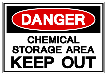 Danger Chemical Storage Area Keep Out Symbol Sign, Vector Illustration, Isolate On White Background Label. EPS10