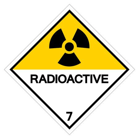 Signe de symbole radioactif d'avertissement, illustration vectorielle, isoler sur fond blanc, étiquette .EPS10