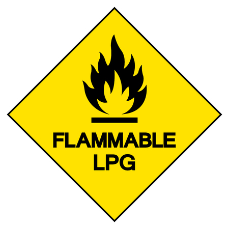 Flammable LPG Symbol Sign ,Vector Illustration, Isolate On White Background Label .EPS10