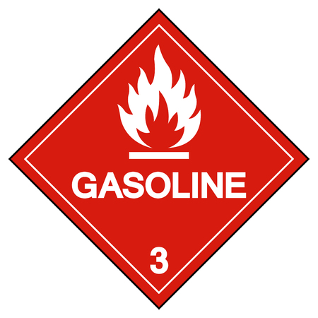 Gasoline Symbol Sign,Vector Illustration, Isolate On White Background, Label .EPS10