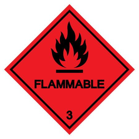 Flammable Symbol Sign ,Vector Illustration, Isolate On White Background Label .EPS10 Vektorové ilustrace