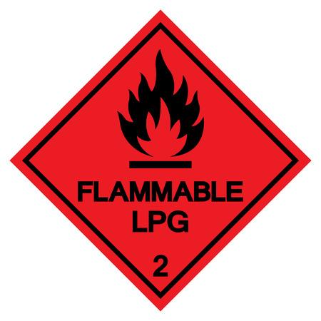 Flammable LPG Symbol Sign ,Vector Illustration, Isolate On White Background Label .EPS10