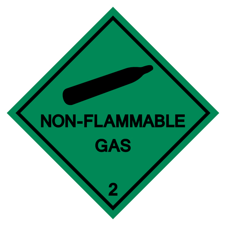 Non-Flammable Gas Symbol Sign ,Vector Illustration, Isolate On White Background Label .EPS10