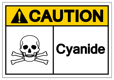 Caution Cyanide Symbol Sign, Vector Illustration, Isolate On White Background Label. EPS10 스톡 콘텐츠 - 122635790
