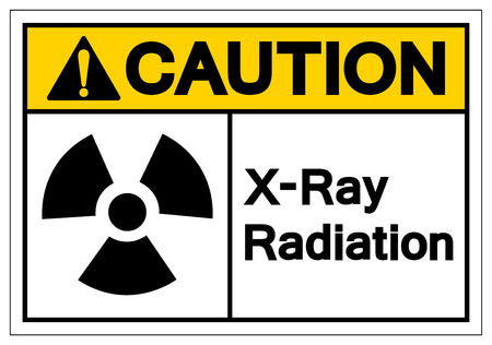 Caution X-Ray Radiation Symbol Sign, Vector Illustration, Isolate On White Background Label. EPS10 Imagens - 122635796