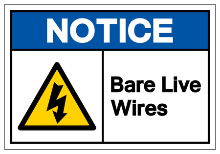 Notice Bar Live Wires Symbol Sign, Vector Illustration, Isolate On White Background Label. EPS10