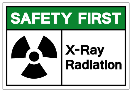 Safety First X-Ray Radiation Symbol Sign, Vector Illustration, Isolate On White Background Label. EPS10 Imagens - 122571234