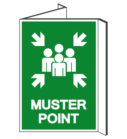 Muster Point Symbol Sign, Vector Illustration, Isolated On White Background Label .EPS10  Иллюстрация