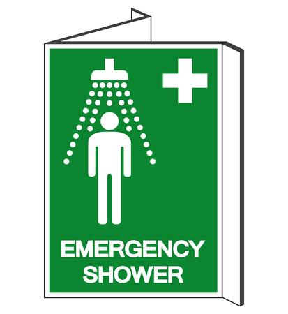 Emergency Shower Symbol Sign, Vector Illustration, Isolate On White Background Label. EPS10