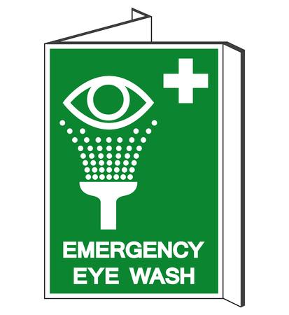 Emergency Eye Wash Symbol Sign, Vector Illustration, Isolate On White Background Label. EPS10