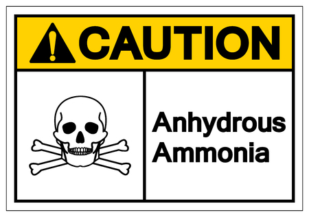 Caution Anhydrous Ammonia Symbol Sign, Vector Illustration, Isolate On White Background Label.