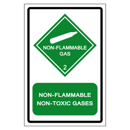 Non Flammable Non Toxic Gases Symbol Sign ,Vector Illustration, Isolate On White Background Label .