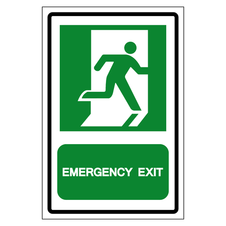 Emergency Exit Symbol Sign, Vector Illustration, Isolate On White Background Label.