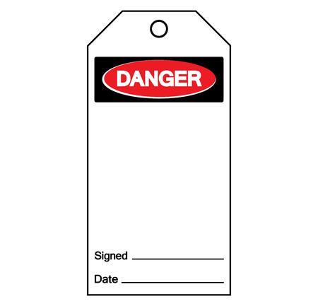 Danger Tag Template Label Symbol Sign, Vector Illustration, Isolate On White Background. Ilustração