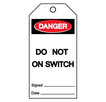 Danger Do Not On Switch Symbol Sign, Vector Illustration, Isolate On White Background Label.