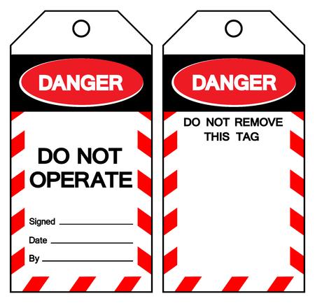 Signo de símbolo de peligro no operar, ilustración vectorial, aislado en etiqueta de fondo blanco .EPS10