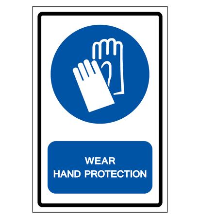Wear  Protection Symbol Sign,Vector Illustration, Isolated On White Background Label. Ilustração