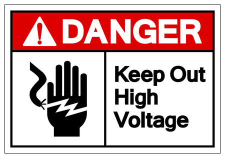 Danger Keep Out High Voltage Symbol Sign, Vector Illustration, Isolate On White Background Label .EPS10  Illustration