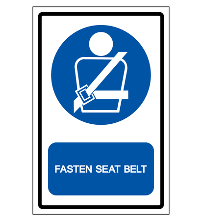 Fasten Seat Belt Symbol Sign,Vector Illustration, Isolated On White Background Label. EPS10   Vectores