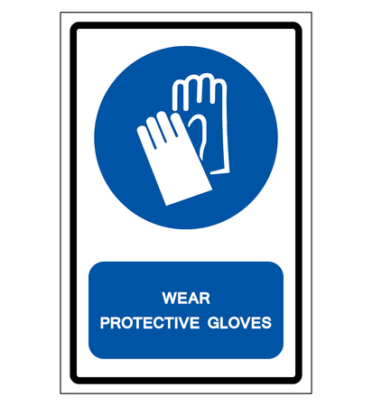 Wear Protective Gloves Symbol Sign, Vector Illustration, Isolate On White Background Label .