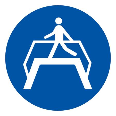 Use Footbridge Symbol Sign ,Vector Illustration, Isolate On White Background Icon .EPS10 Ilustração