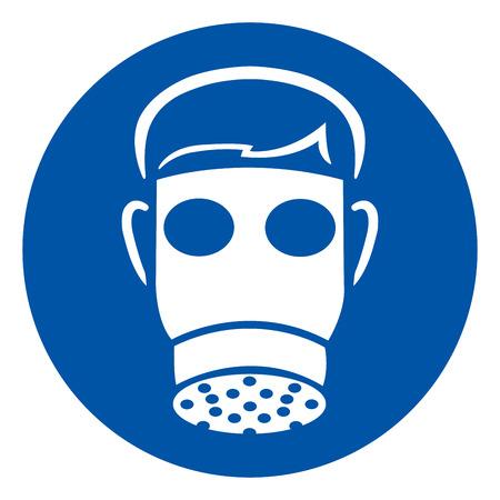 Indossare segno simbolo pieno facciale, illustrazione vettoriale, isolato su sfondo bianco etichetta. Vettoriali