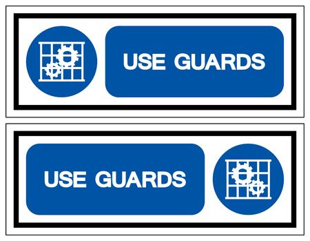 Use Guards Symbol Sign,Vector Illustration, Isolate On White Background Label . Ilustração