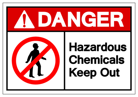 Danger Hazardous Chemicals Keep Out Symbol Sign, Vector Illustration, Isolate On White Background Label. EPS10