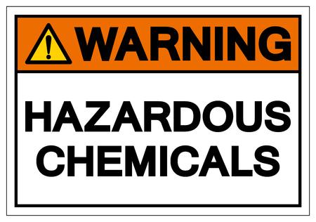 Warning Hazardous Chemicals Symbol Sign, Vector Illustration, Isolate On White Background Label.
