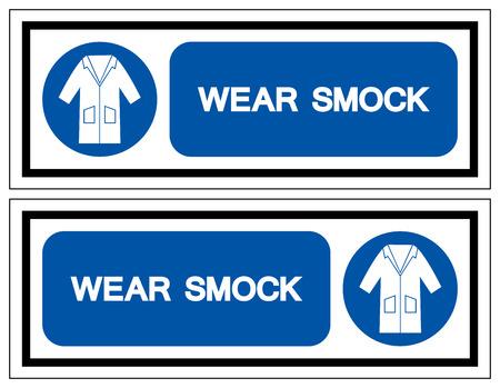 Wear Smock Symbol Sign, Vector Illustration, Isolate On White Background Label. 일러스트