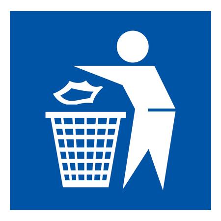Ne pas jeter de signe de symbole, illustration vectorielle, isoler sur l'étiquette de fond blanc.