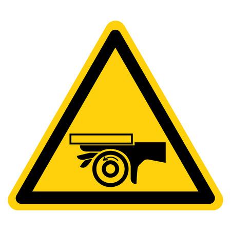 Crush Roller Pinch Point Symbol Sign, Vector Illustration, Isolate On White Background Label . Ilustração
