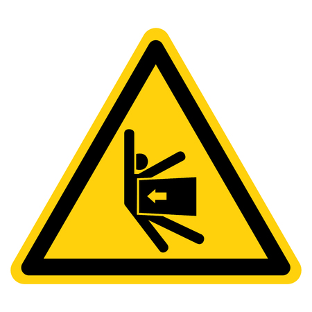 Crush Force From Side Symbol Sign, Vector Illustration, Isolate On White Background Label . Ilustração