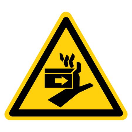 Crush Force Left Symbol Sign, Vector Illustration, Isolate On White Background Label . Ilustração
