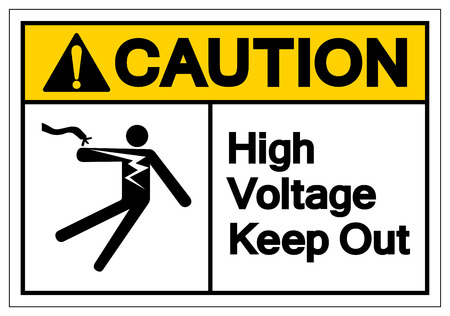 Caution High Voltage Keep Out Symbol Sign, Vector Illustration, Isolate On White Background Label .EPS10