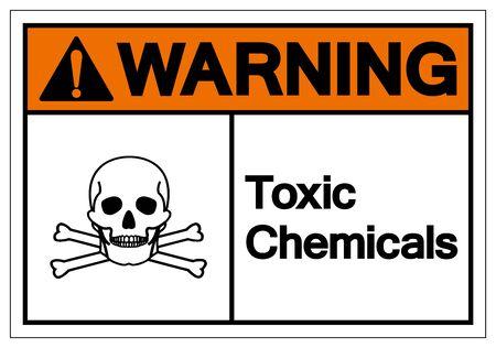 Warning Toxic Chemicals Symbol Sign, Vector Illustration, Isolate On White Background Label. EPS10