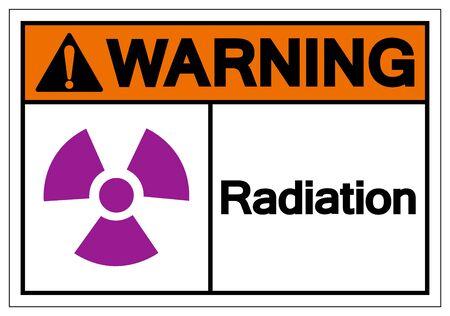 Warning Radiation Symbol Sign, Vector Illustration, Isolate On White Background Label. EPS10  Illustration