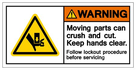 Warning Moving Parts Symbol, Vector Illustration, Isolate On White Background Label. EPS10 Illustration