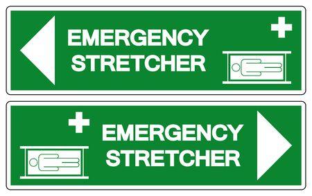 Emergency Stretcher Symbol Sign, Vector Illustration, Isolate On White Background Label .EPS10