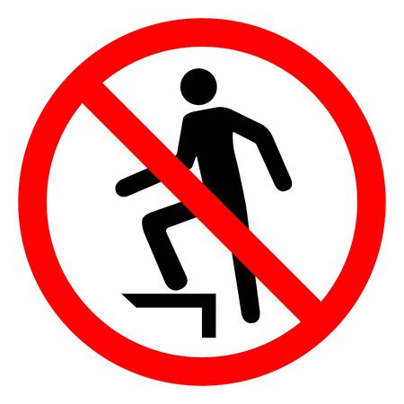 No Stepping On Surface Symbol Sign, Vector Illustration, Isolate On White Background Label .EPS10 Illustration