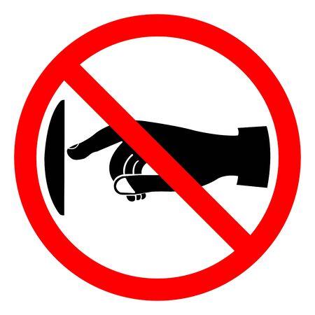 Non toccare segno simbolo, illustrazione vettoriale, isolare su sfondo bianco etichetta .EPS10