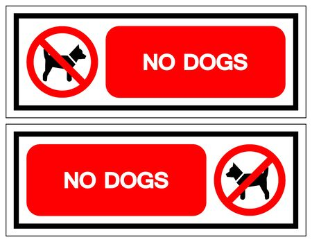 No Dogs Symbol Sign, Vector Illustration, Isolate On White Background Label .EPS10