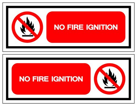 No Fire Ignition Symbol Sign, Vector Illustration, Isolate On White Background Label .EPS10